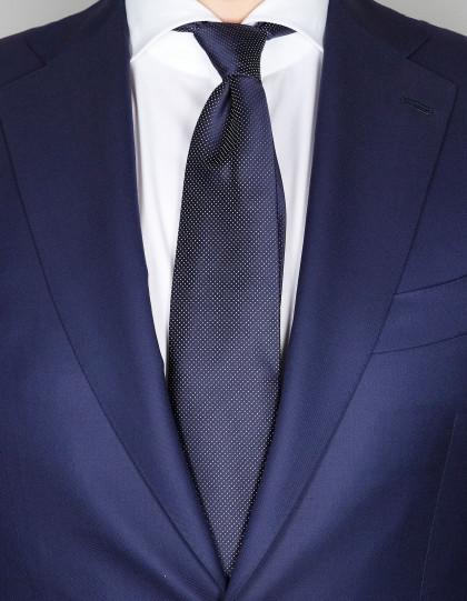 Luigi Borelli Krawatte in schwarz mit weissen Punkten