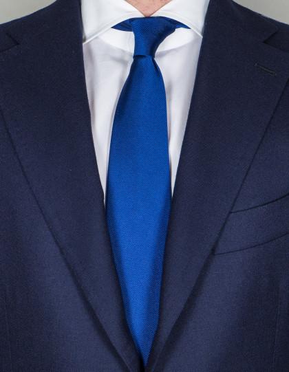 Cesare Attolini Krawatte in blau mit leichter Struktur