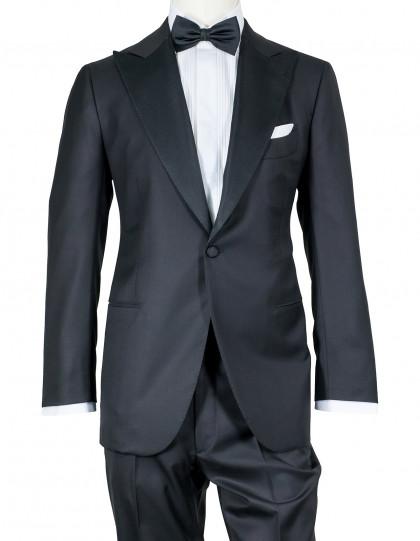 Cesare Attolini Smoking in schwarz aus Super 150'S Wolle