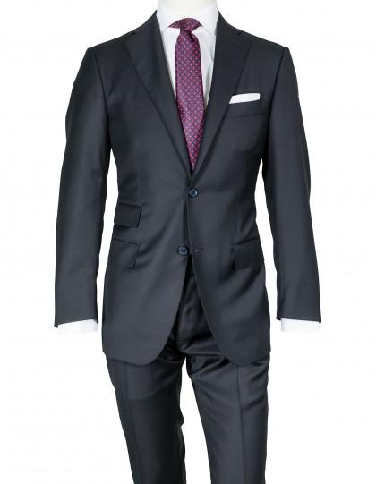 Caruso Anzug in schwarz aus Superfine 130'S Wolle