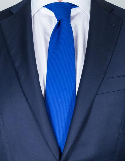 Cesare Attolni Krawatten in blau mit Struktur