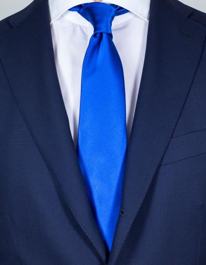 Kiton Krawatte in stahlblau