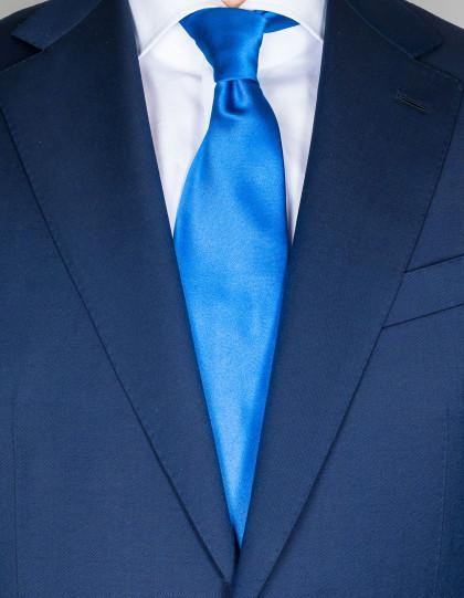 Kiton Krawatte in signalblau