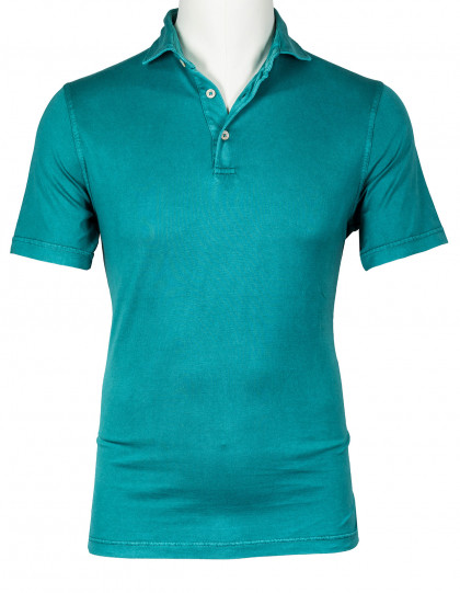 Fedeli Polo in grün aus Jersey (Organic Cotton)