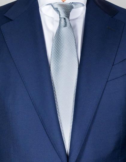 Kiton Krawatte in silber mit feinem kleinen Muster