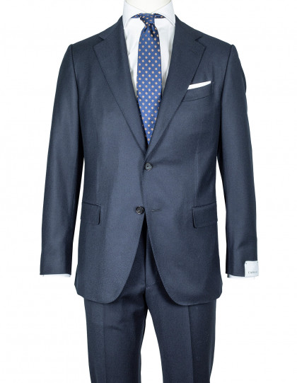 Caruso Flanellanzug in dunkelblau aus Super 150'S Wolle