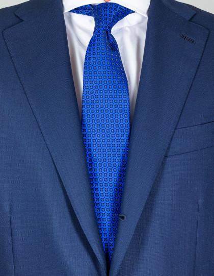 Kiton Krawatte in blau mit blauem Muster