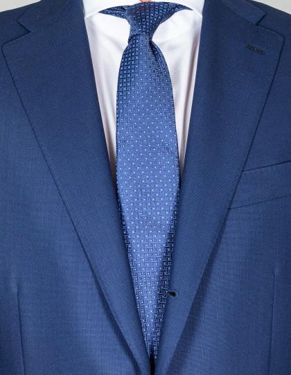Kiton Krawatte in blau mit weißen Punkten